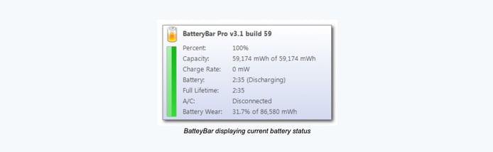 BatteryBar display