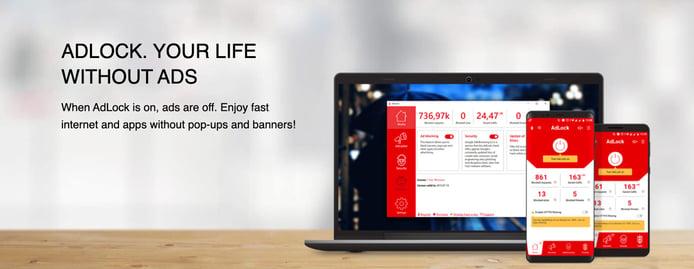 Screenshot of AdLock devices