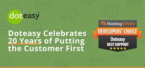 Doteasy Celebrates 20 Years of Putting the Customer First with In-House Support for its Hosting and Site-Building Services