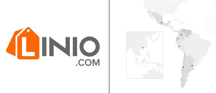 Linio logo and map