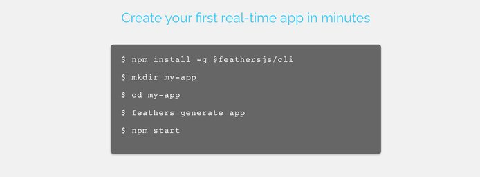 Feathers helps users build real-time apps