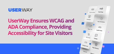 Userway Ensures Wcag And Ada Compliance