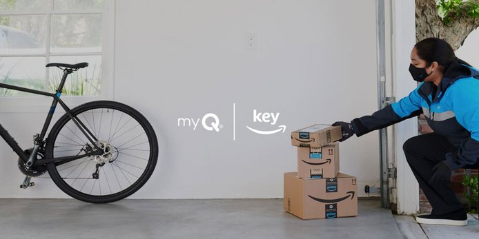 Screenshot of myQ and Amazon partnership