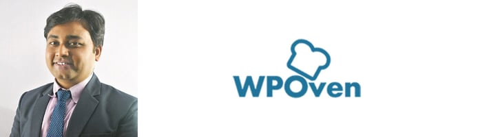Snehil Prakash, Marketing Manager at WPOven, and logo