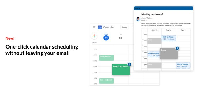 Boomerang's new one-click scheduling