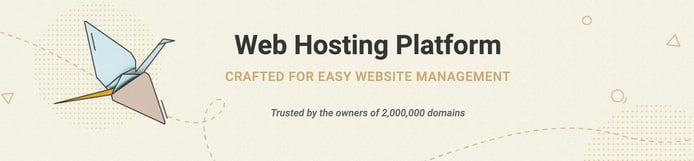 Picture of hand-drawing bird with the words Web Hosting Platform