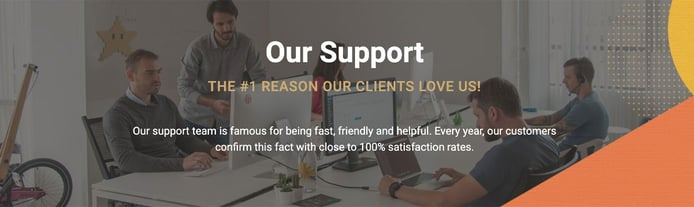 SiteGround graphic depicting notorious customer support