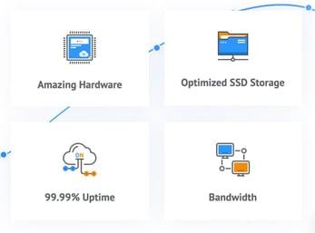 Screenshot of IDCloud offerings