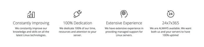 Screenshot from LinuxHostSupport website