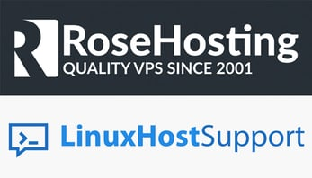 RoseHosting and LinuxHostSupport logos