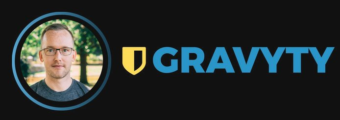Rich Palmer, Co-Founder and CTO, and Gravyty logo