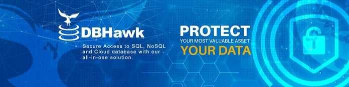 """DBHawk logo and text reading """"Protect Your Data"""""""