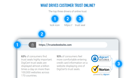 Infographic reading: What drives customer trust online?