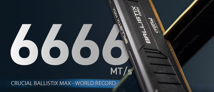 Crucial has set multiple records with the Crucial Ballistix MAX line.
