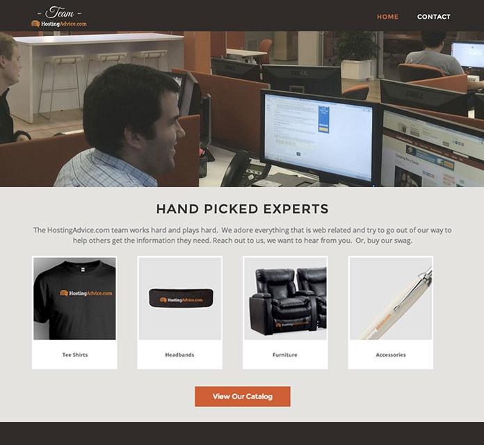 HostingAdvice Team Homepage