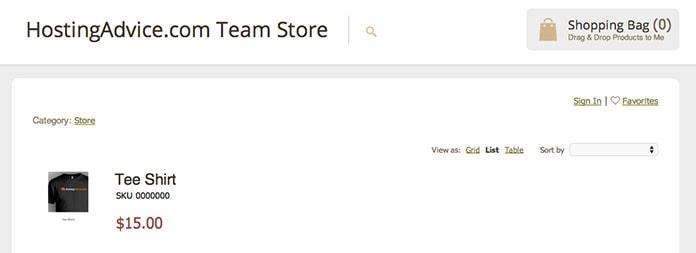 HostingAdvice Online Store