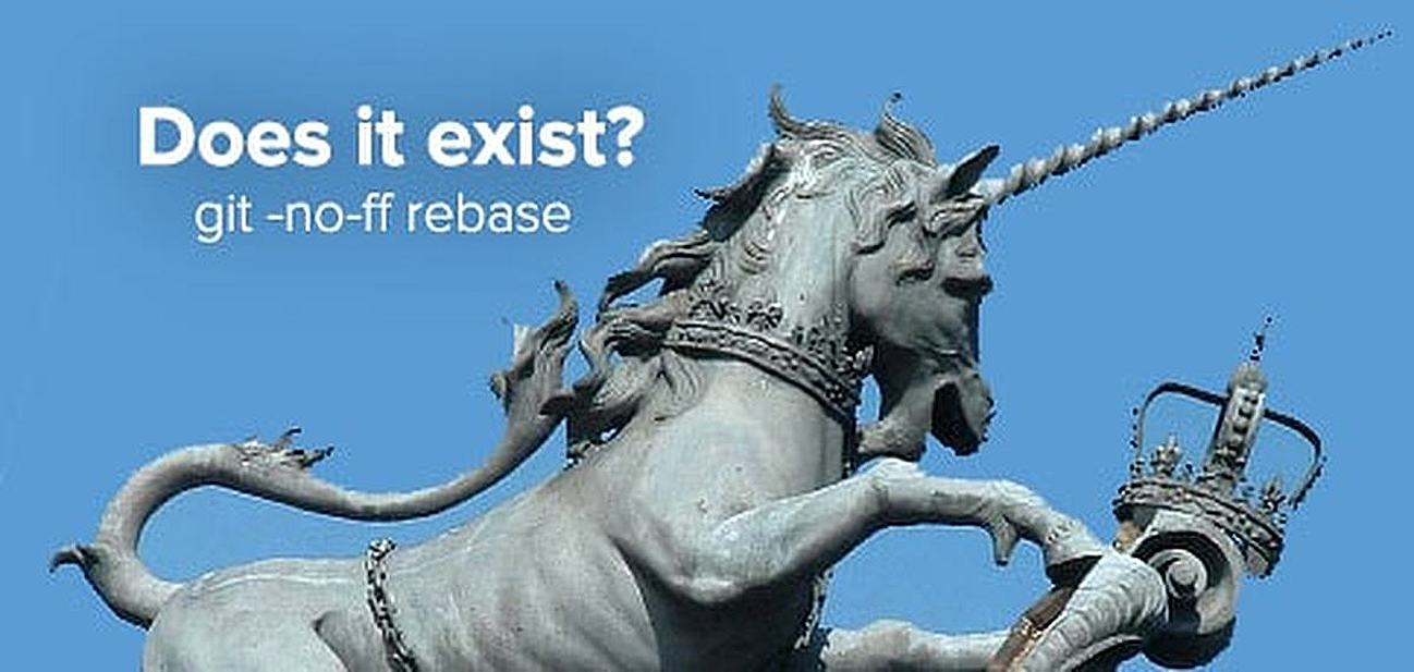 git -no-ff rebase: Does It Exist?
