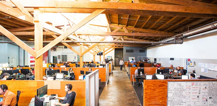 Media Temple Office Space Has Lots of Wood and No Cubicles