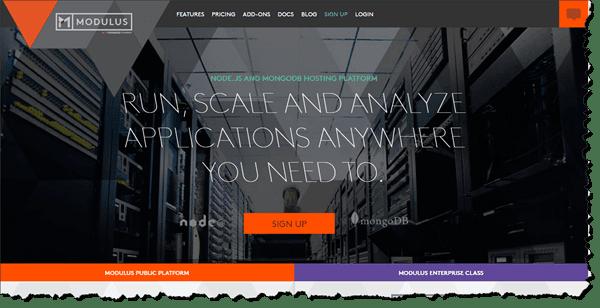 Modulus Website Screen Grab