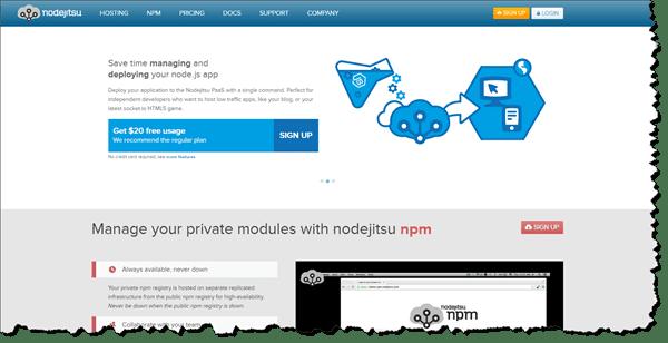 Nodejitsu Website Screen Grab