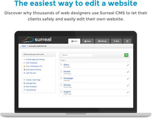 Surreal CMS - The easiest way to edit a website