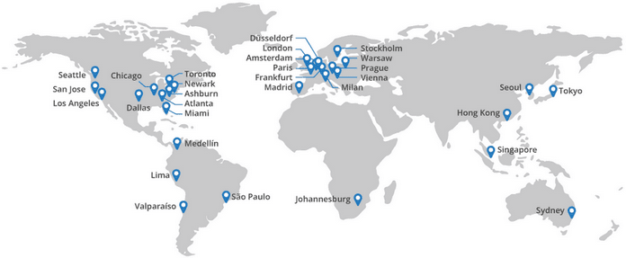 CloudFlare Global Network Locations