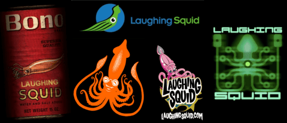 Laughing Squid logo evolution