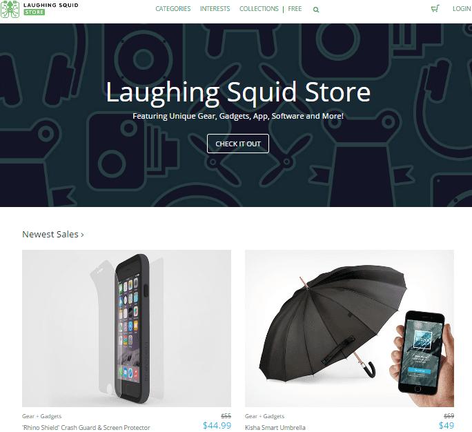 Laughing Squid store screenshot