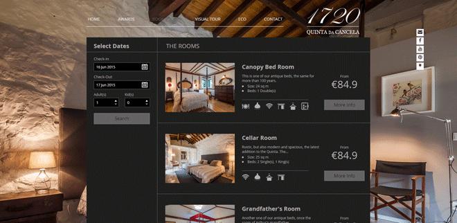 Wix Hotels Online Booking Agent User Quinta Da Cancela