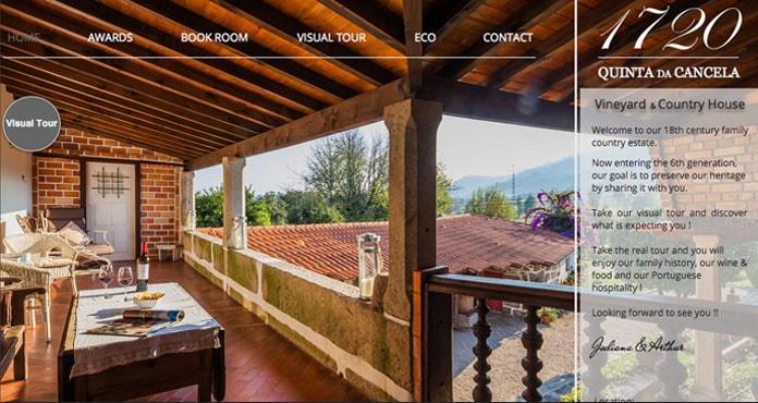 Quinta da Cencela - Wix Hotel Example