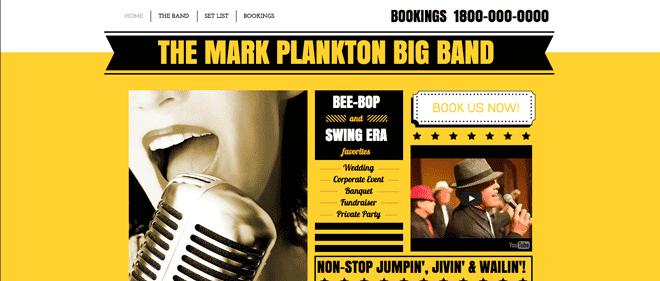 Wix Music Example Website