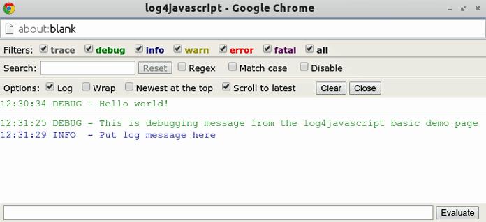 JS logging - log4javascript