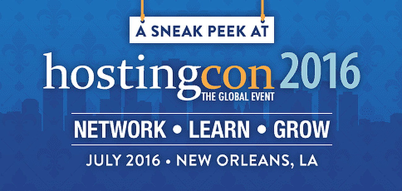 HostingCon Global 2016 will take place in New Orleans, LA