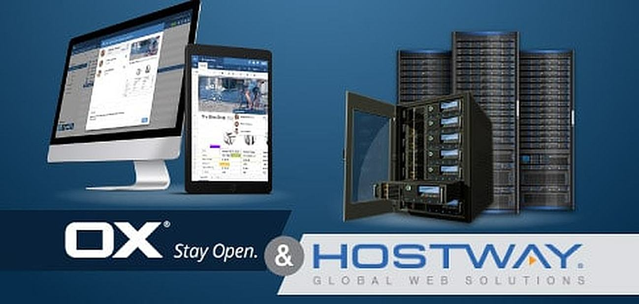 Hostway hosts Open-Xchange OX App Suite