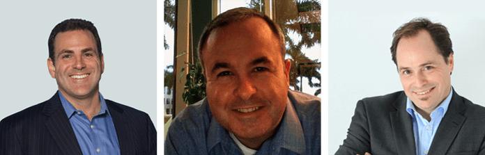 Headshots of Open-Xchange's Bob Krulcik and Chris Latterell and Hostway's John Enright