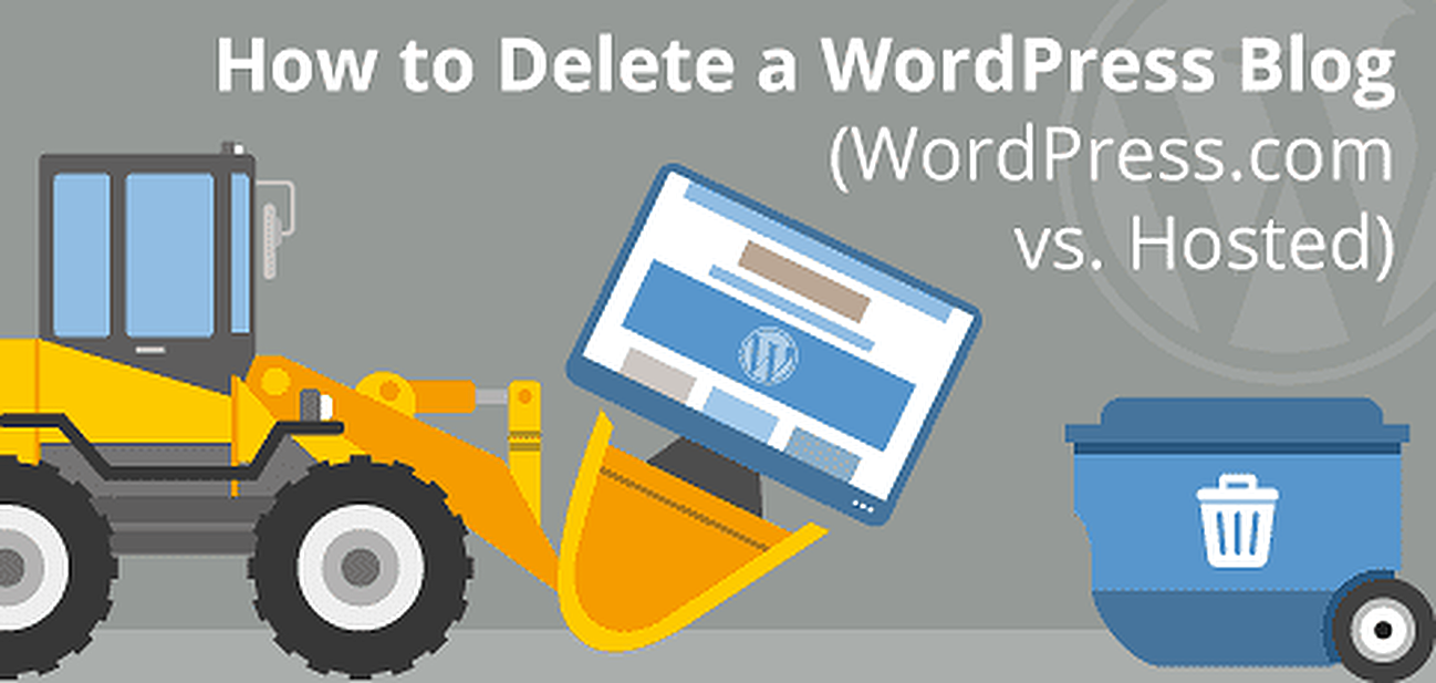 Instructions for deleting WordPress blogs