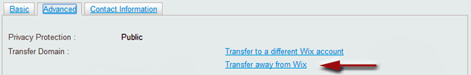 Advanced Domain Settings for Wix - transfer away from Wix