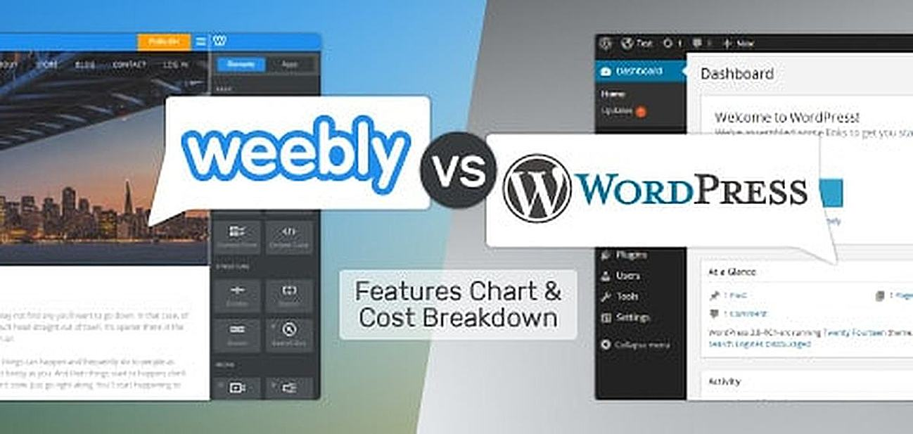 Comparing Weebly.com to WordPress hosting