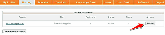 find your domain in cPanel