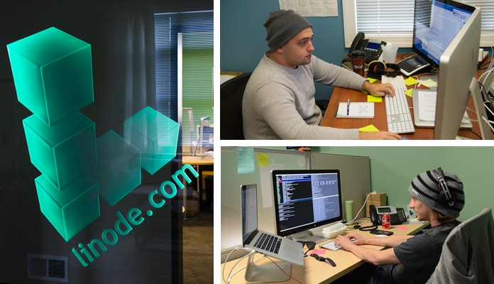 Shots of Linode's engineers at work