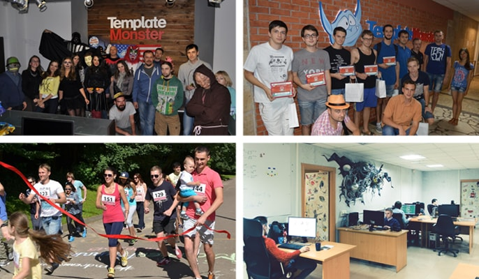 Photos of the TemplateMonster team at work and at play