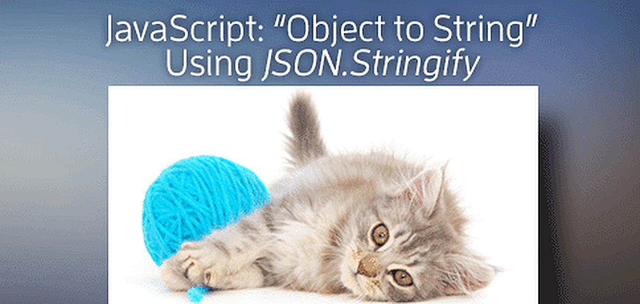 "JavaScript ""Object to String"" Using <em>JSON.stringify()</em>"
