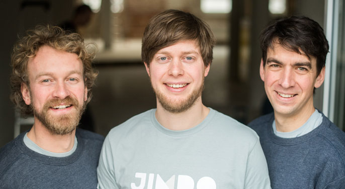 Jimdo Founders Fridtjof Detzner, Christian Springub, and Matthias Henze