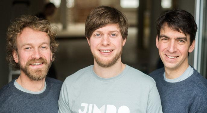 Jimdo Founders Fridtjof Detzner, Christian Springub, and Matthias Henze
