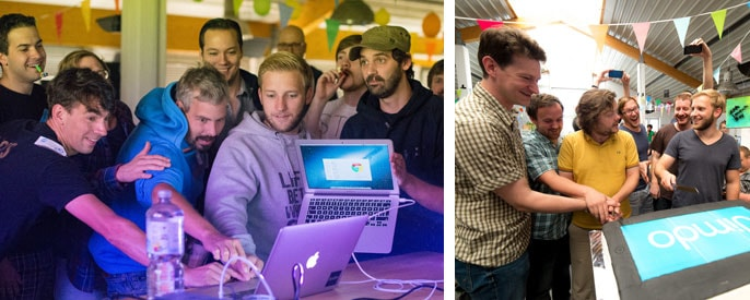 Jimdo founders launch iOS app and celebrate with an iPad cake