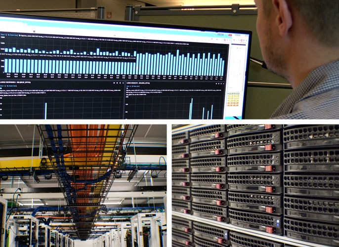SingleHop monitoring, cables, and servers at one of their datacenters