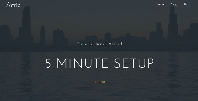 Astrid WordPress theme screenshot