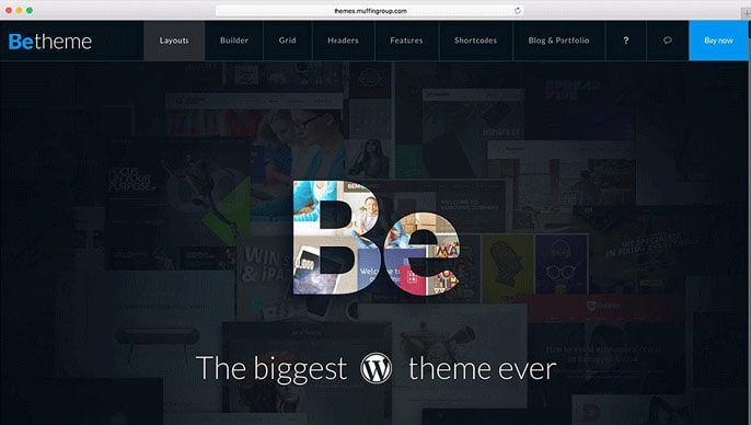 BeTheme WordPress theme screenshot