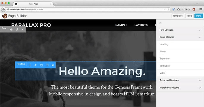 Beaver Builder WordPress plugin screenshot