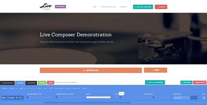 Live Composer WordPress plugin screenshot